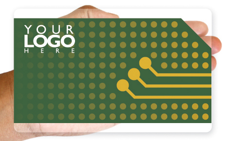 Circuit board plastic business card design