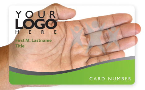 Clear die cut business card design