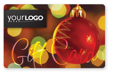 Christmas lights gift card design
