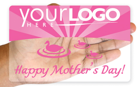 Clear gift card with Mother's Day design