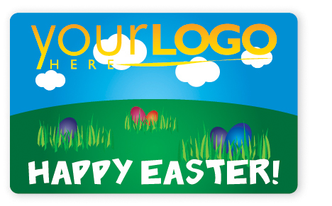 Easter egg gift card design