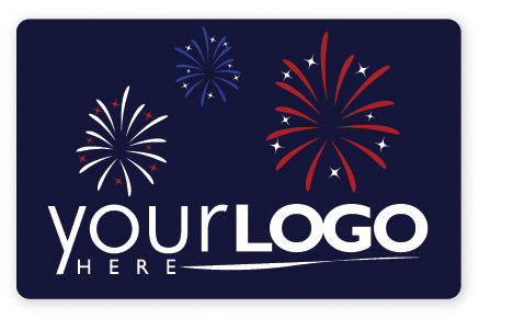 Fireworks gift card design