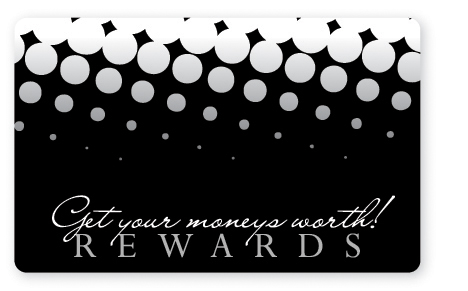 Rewards card predesigned gift card
