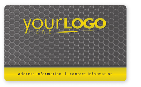 Hi-tech business card design in gray