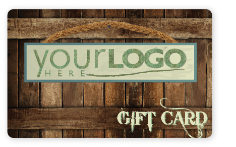 Wooden box gift card design