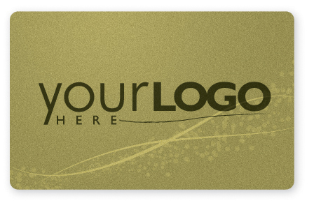 Gold gift card design with metallic ink