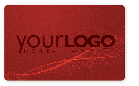 Red gift card design with metallic ink