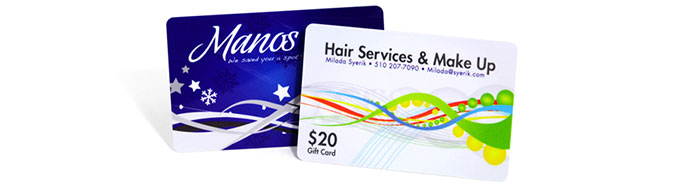 plastic gift card design and business card design