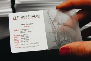 Get transparent card options for your business