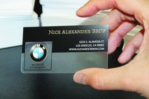 Transparent Business Cards Give A Great First Impression