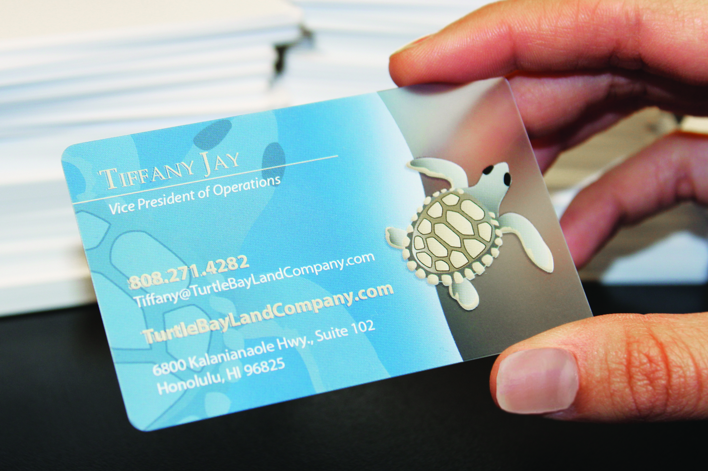 clear plastic business cards make a lasting impression