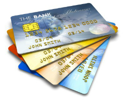 Embossed Plastic Credit Cards