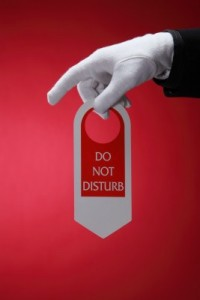 do not disturb plastic door hanger