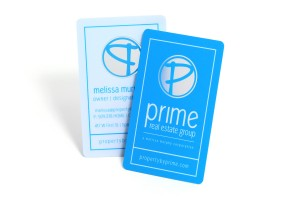 Prime Real Estate Group Plastic Business Card