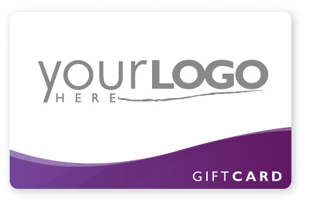 Predesigned gift card printing with your logo