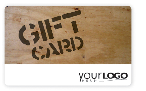 Wood grain customizable gift card design