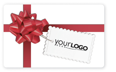 Holiday gift card design with red box