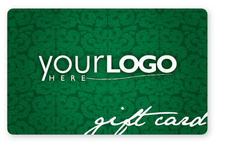 Sophisticated green gift card design