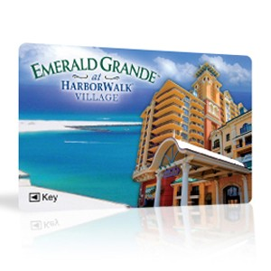 Custom hotel key cards with RFID or magnetic stripe