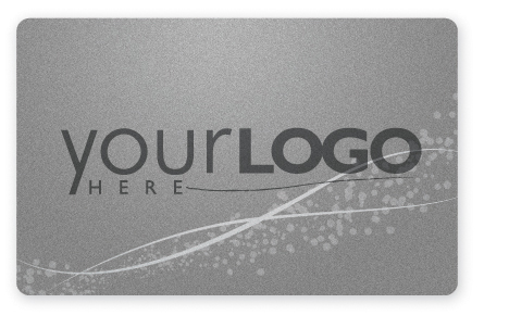 Silver gift card design with metallic ink