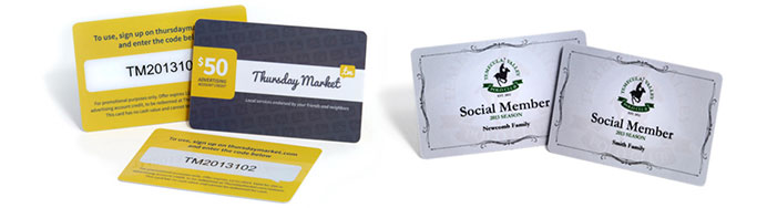 Plastic cards with variable data printing