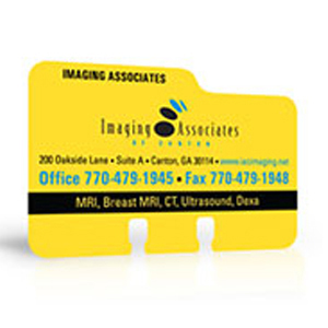 Plastic Rolodex cards for business