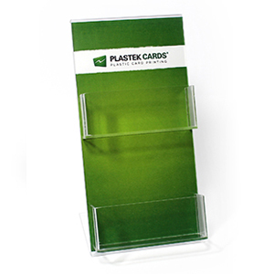 Stacked acrylic two-pocket gift card display