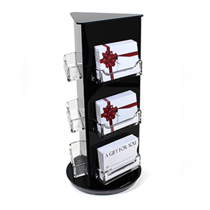 Rotating gift card display stand