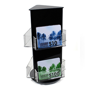Six pocket rotating gift card display stand