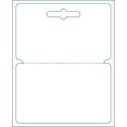 Hanging Card with Keyhole Slot