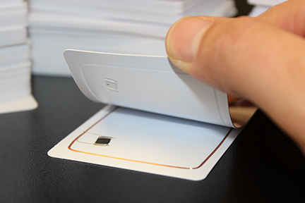 Blank white RFID cards in CR80 size and made from PVC plastic