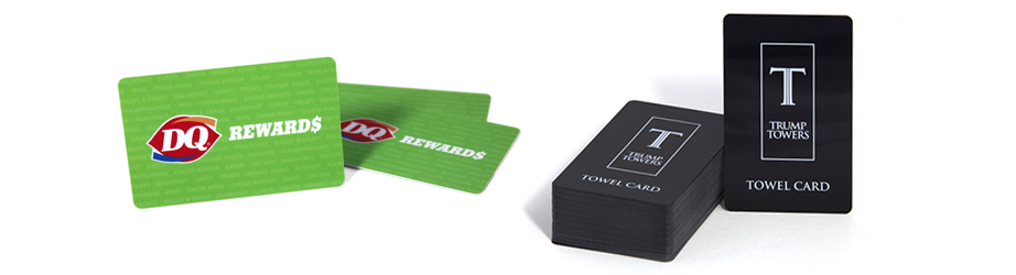 Plastic card stock options