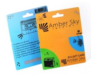 Gift card hanger