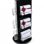 Rotating gift card display tower