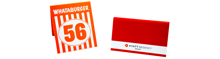 Plastic Table Tents Printing Durable And Affordable - Custom restaurant table numbers