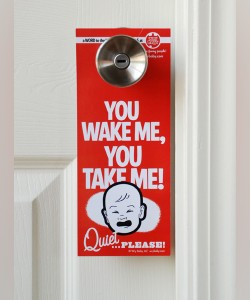 Hotel Do Not Disturb Door Hanger - Wake