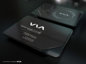 Black Plastic Die Cut Business Card