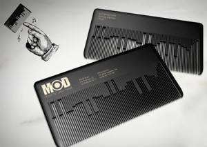 Comb Die Cut Business Card