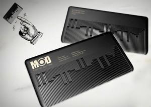 Comb Die Cut Business Card
