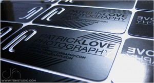 Die Cut Plastic Business Card Photography