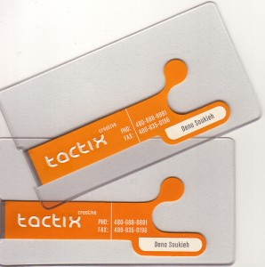Clear Die Cut Plastic Business Card