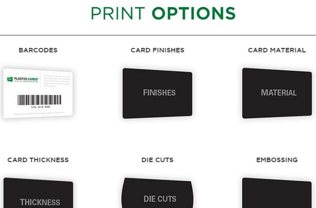 Plastic Card Printing Options