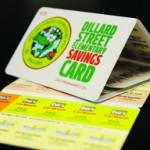 Plastic fundraising card