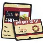 Gift card with affixed carrier