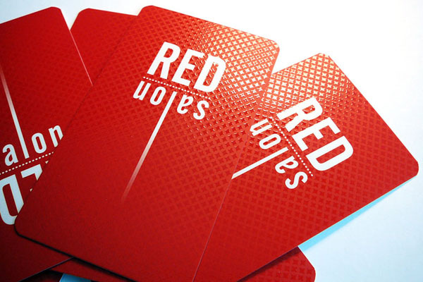 Spot UV Business Card Red