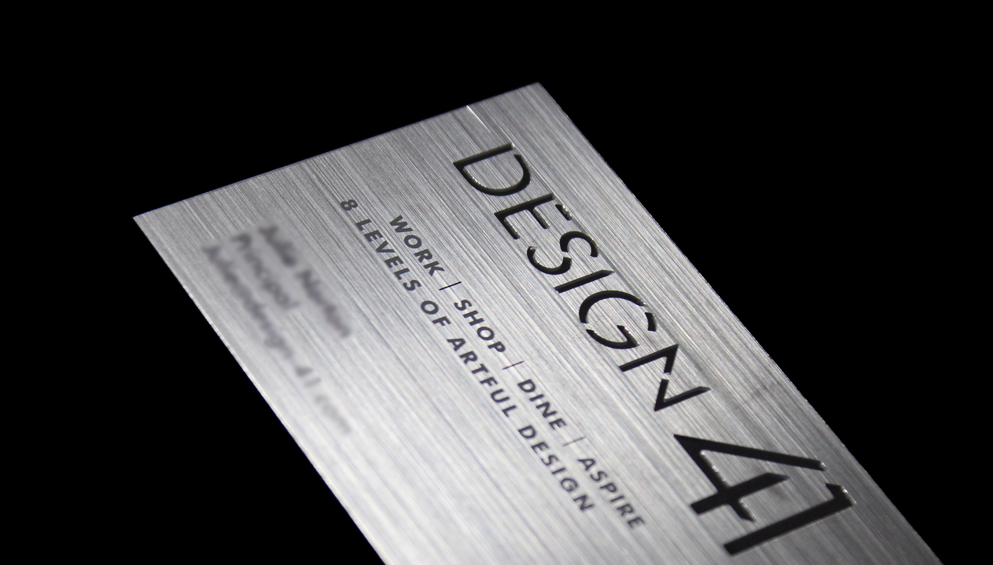 design 41 cut plastic business cards with miami style