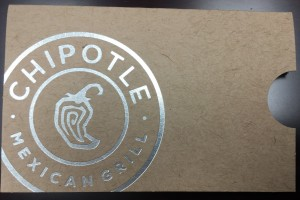 Gift Card Sleeve with Foil Stamp
