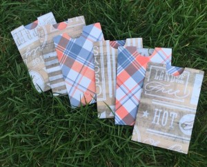 Gift Cards Sleeves - Plaid