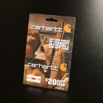 Break away hanging gift card for Carhartt