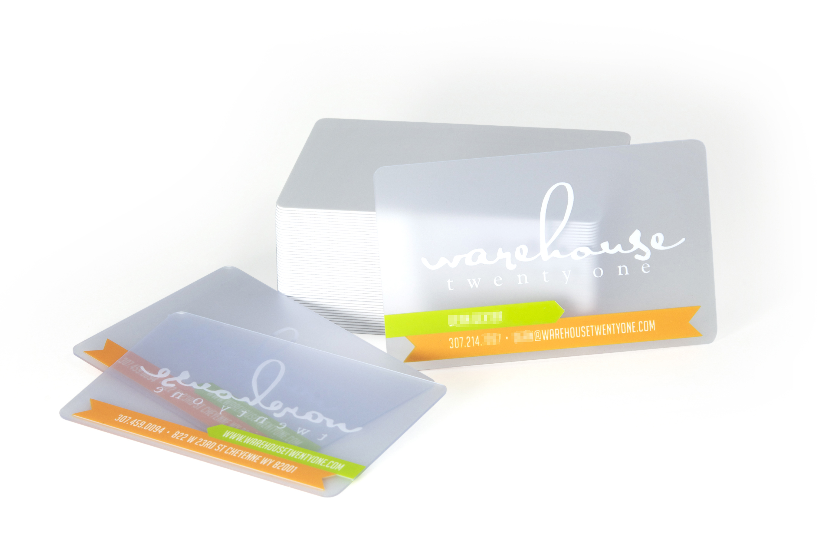 Translucent Frosted Plastic Business Card Slim Image